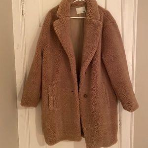 Aritzia Wilfred Free Teddy Cocoon Coat